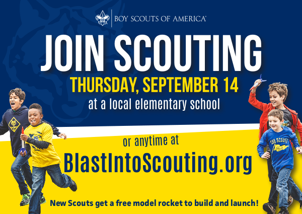 Pack 183 – Blast Into Scouting – Fall Recruitment Night